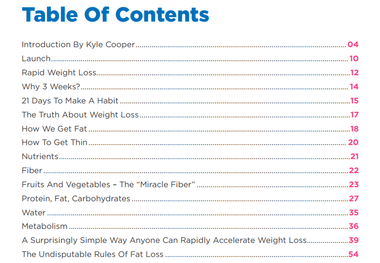 The fat decimator system table of content pdf